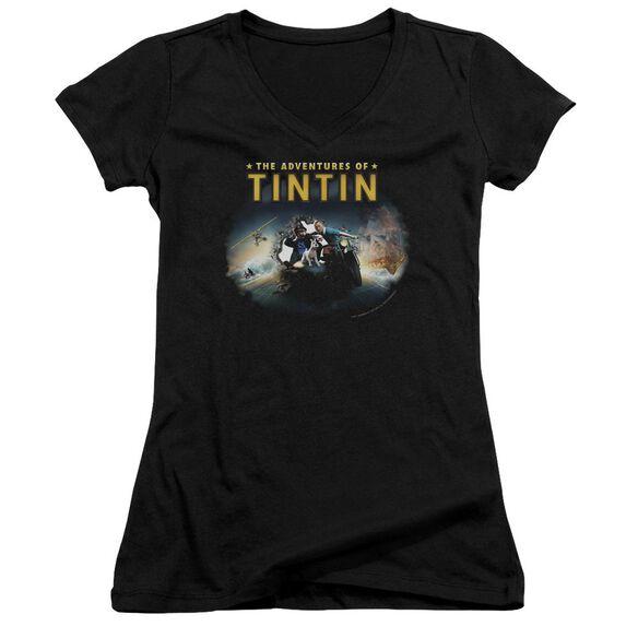 Tintin Journey Junior V Neck T-Shirt