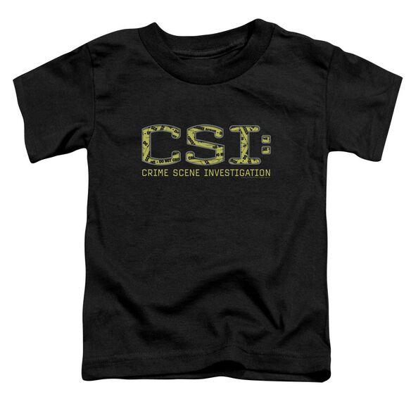 Csi Collage Logo Short Sleeve Toddler Tee Black Lg T-Shirt