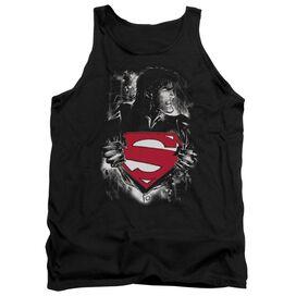 Superman Darkest Hour - Adult Tank - Black