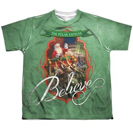Polar Express Santa Short Sleeve Youth Poly Crew T-Shirt