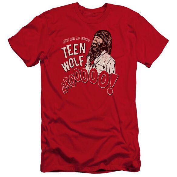 Teen Wolf Animal Premuim Canvas Adult Slim Fit