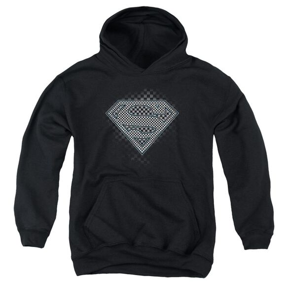Superman Checkerboard Youth Pull Over Hoodie