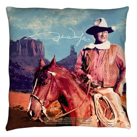John Wayne Monument Man Throw Pillow