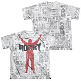 Rocky News Press (Front Back Print) Short Sleeve Youth Poly Crew T-Shirt