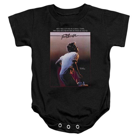 Footloose Poster Infant Snapsuit Black
