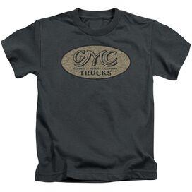 Gmc Vintage Oval Logo Short Sleeve Juvenile Charcoal T-Shirt