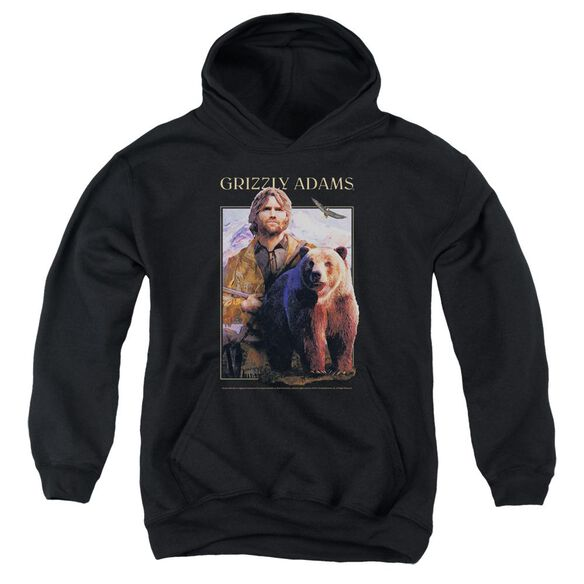 Grizzly Adams Collage Youth Pull Over Hoodie