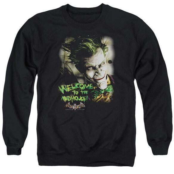 Batman Aa Welcome To The Madhouse Adult Crewneck Sweatshirt