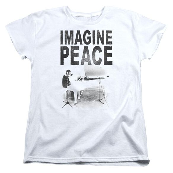 John Lennon Imagine Short Sleeve Womens Tee T-Shirt