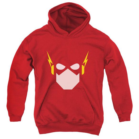 Jla Flash Head Youth Pull Over Hoodie