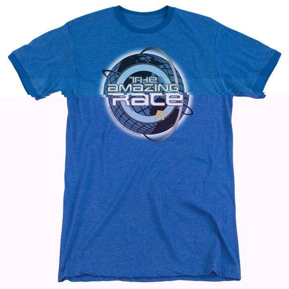 Amazing Race Around The Globe - Adult Heather Ringer - Royal Blue