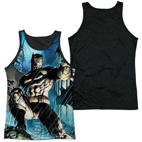 Batman Rainy Rooftop Adult Poly Tank Top Black Back