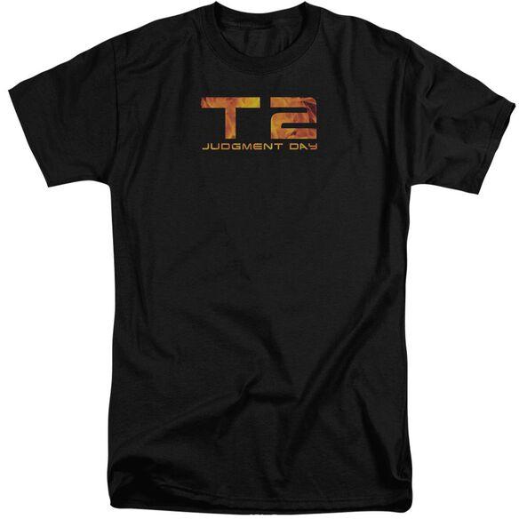 Terminator 2 Fire Logo Short Sleeve Adult Tall T-Shirt