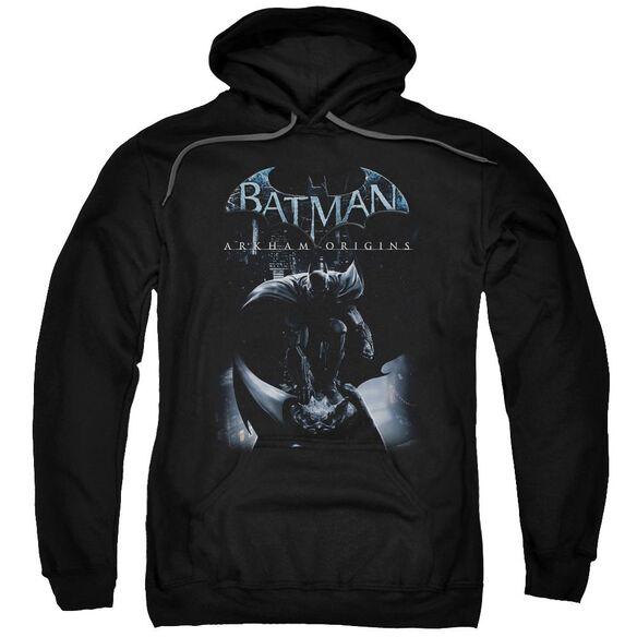 Batman Arkham Origins Perched Cat Adult Pull Over Hoodie Black