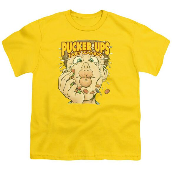 Dubble Bubble Pucker Ups Short Sleeve Youth T-Shirt