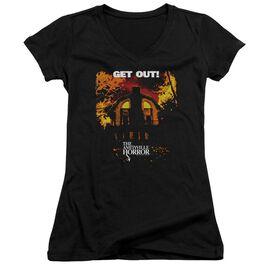 Amityville Horror Get Out Junior V Neck T-Shirt