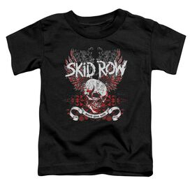 Skid Row Winged Skull Short Sleeve Toddler Tee Black T-Shirt