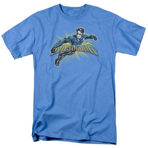 BATMAN NIGHTWING BURST - S/S ADULT 18/1 - CAROLINA BLUE T-Shirt