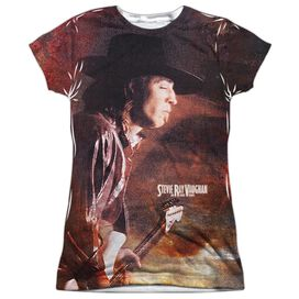 Stevie Ray Vaughan Weather Short Sleeve Junior Poly Crew T-Shirt