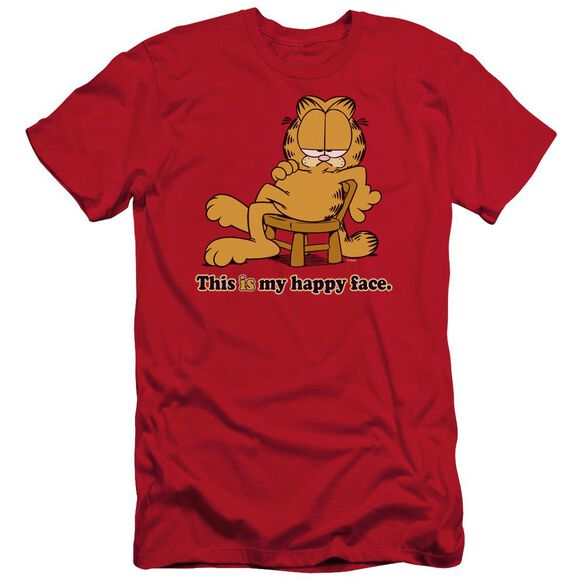 GARFIELD HAPPY FACE - S/S ADULT 30/1 - RED T-Shirt