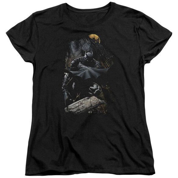 Batman Sweeping Cape Short Sleeve Womens Tee T-Shirt