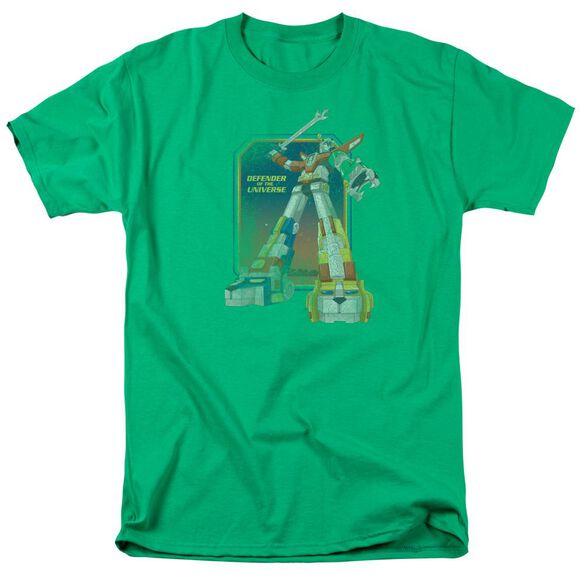Voltron Distressed Defender Short Sleeve Adult Kelly T-Shirt