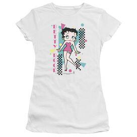 Betty Boop Booping 80 S Style Short Sleeve Junior Sheer T-Shirt