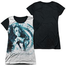 Constantine Splatter Short Sleeve Junior Poly Black Back T-Shirt