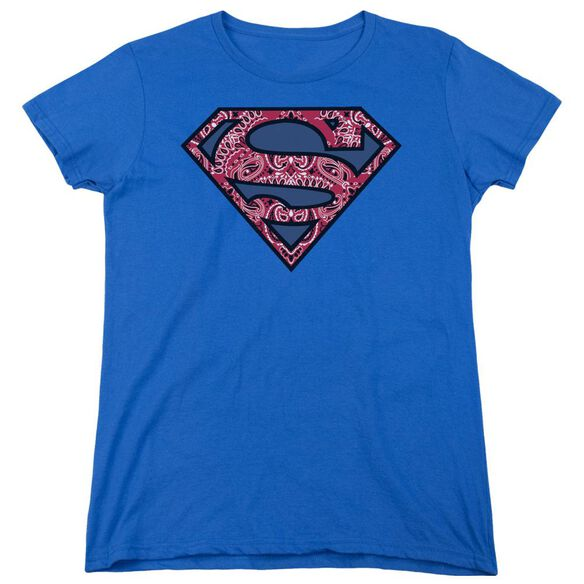 SUPERMAN PAISLEY SHIELD-S/S WOMENS T-Shirt