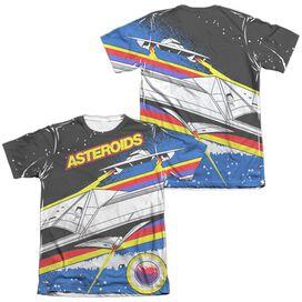 Atari Asteroids Arcade (Front Back Print) Adult Poly Cotton Short Sleeve Tee T-Shirt