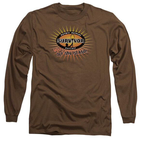 Survivor Off My Island Long Sleeve Adult T-Shirt