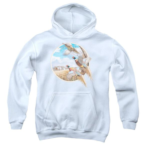Wildlife October Memories Pheasants Youth Pull Over Hoodie