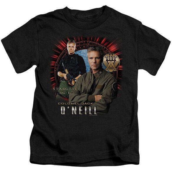 Sg1 Jack O'neill Short Sleeve Juvenile Black T-Shirt