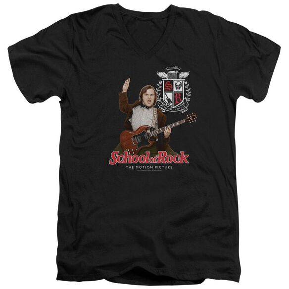 School Of Rock The Teacher Is In Short Sleeve Adult V Neck T-Shirt