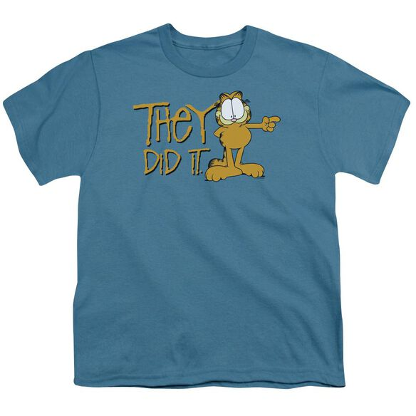 Garfield They Did It Short Sleeve Youth T-Shirt