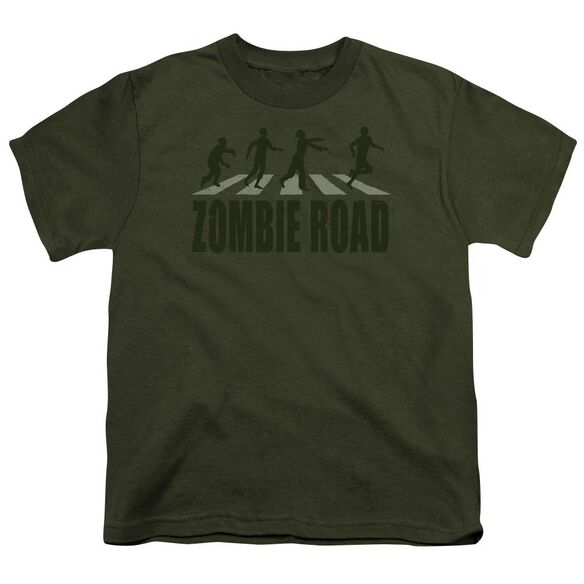 Zombie Road Short Sleeve Youth Military T-Shirt