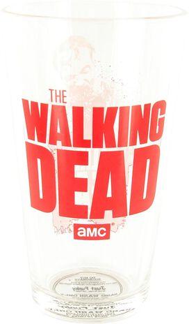 Walking Dead Red Zombie Pint Glass