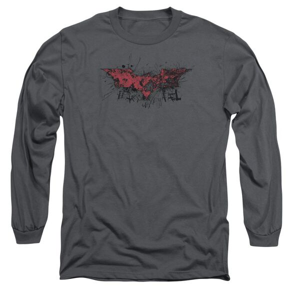 Dark Knight Rises Fear Logo Long Sleeve Adult T-Shirt