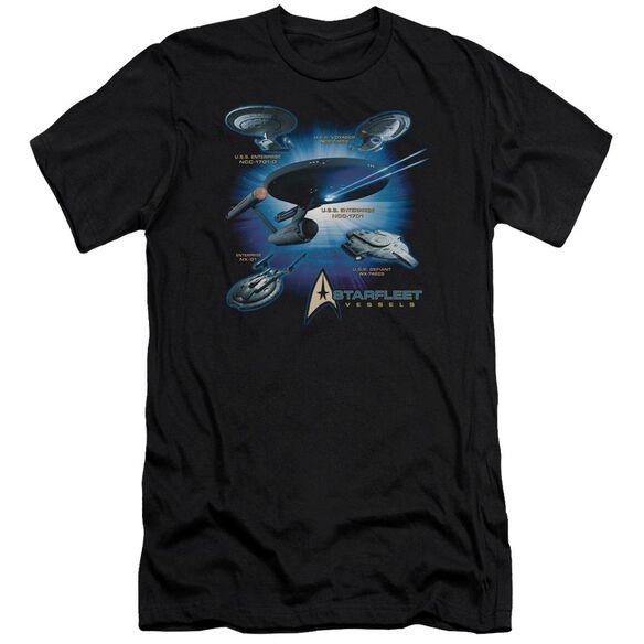 Star Trek Starfleet Vessels Short Sleeve Adult T-Shirt