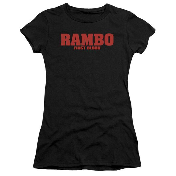Rambo:First Blood Logo Short Sleeve Junior Sheer T-Shirt