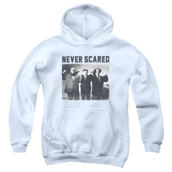 Three Stooges Never Scared Youth Pull Over Hoodie