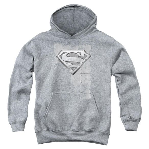 Superman Riveted Metal Youth Pull Over Hoodie