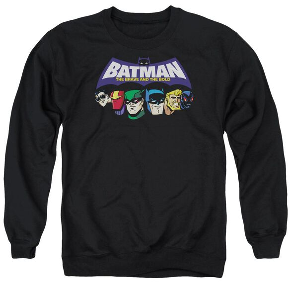Batman Bb Head Lineup Adult Crewneck Sweatshirt