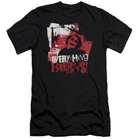 Dark Knight Everything Burns Short Sleeve Adult T-Shirt