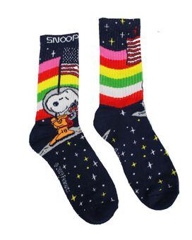 Snoopy on the Moon w/ American Flag Socks