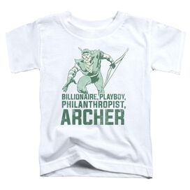 Dc Archer Short Sleeve Toddler Tee White T-Shirt