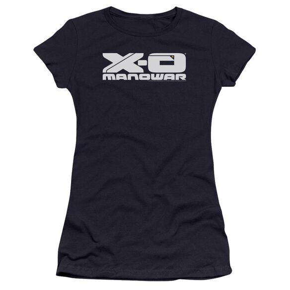 Xo Manowar Logo Premium Bella Junior Sheer Jersey