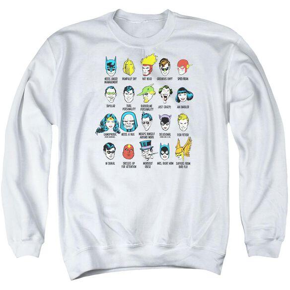 Dc Superhero Issues Adult Crewneck Sweatshirt