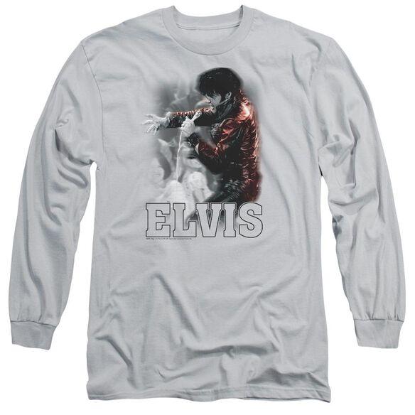 Elvis Black Leather Long Sleeve Adult T-Shirt