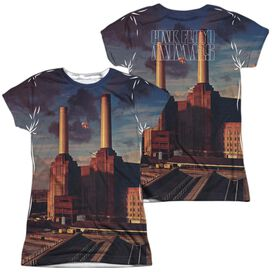Pink Floyd Animals (Front Back Print) Short Sleeve Junior Poly Crew T-Shirt